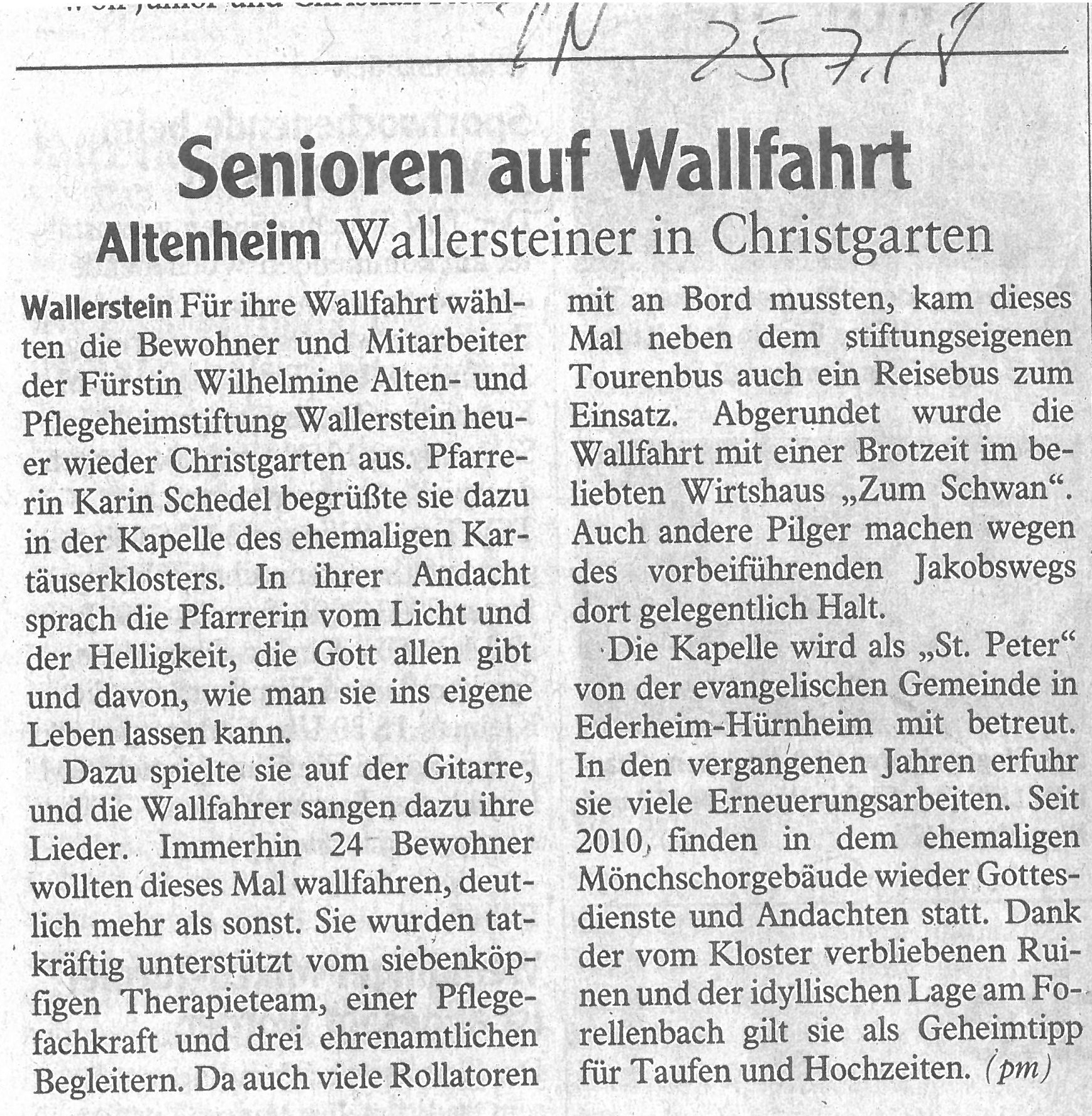 Presse Fürstin Wilhelmine